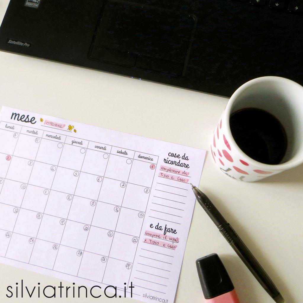 Calendario Mensile Da Stampare.Quando Serve Un Planner Mensile Da Stampare Silvia Trinca