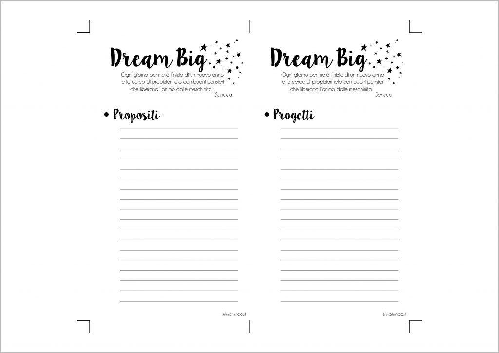 Elenco propositi e progetti formato personal - da stampare