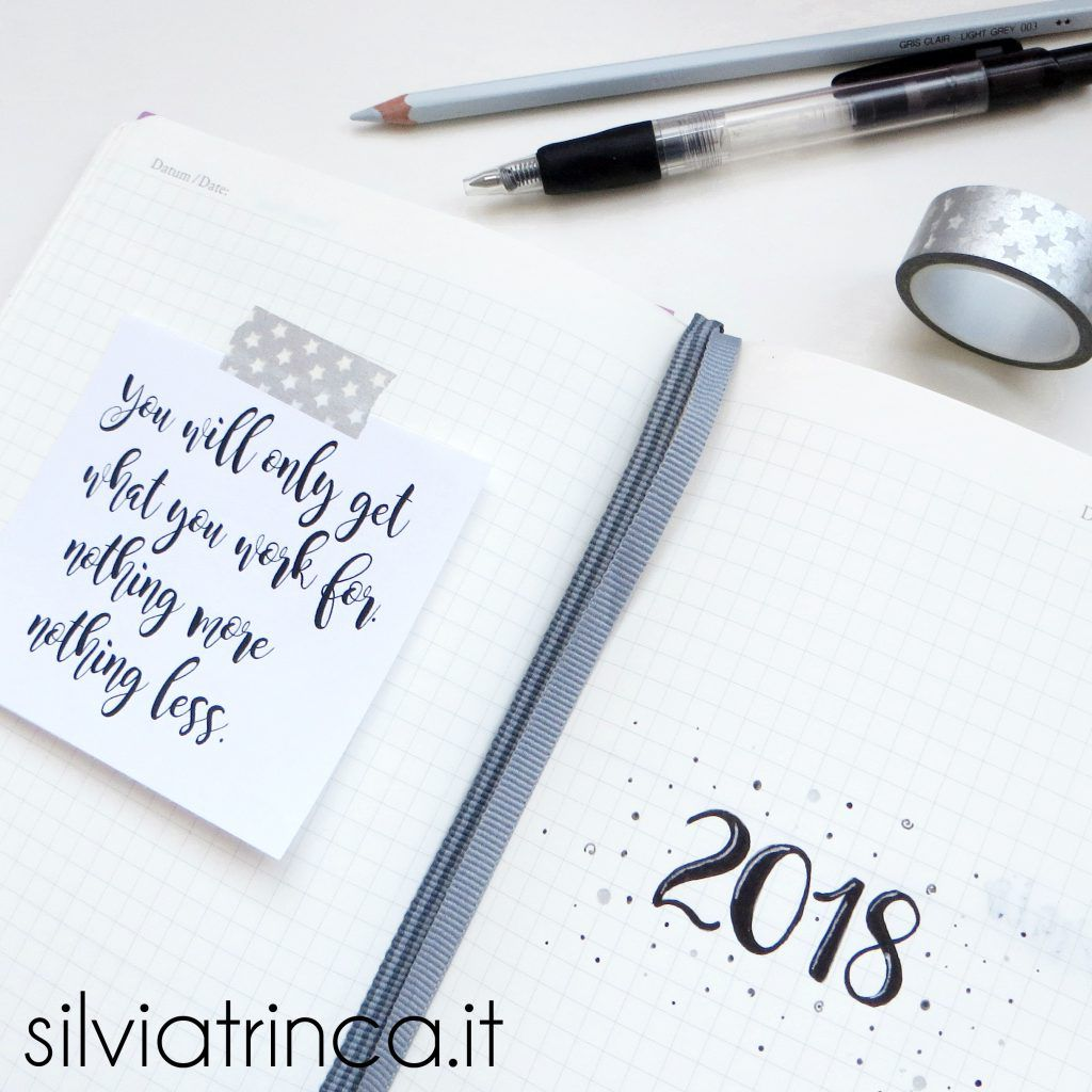 Bullet Journal gennaio 2018 set up