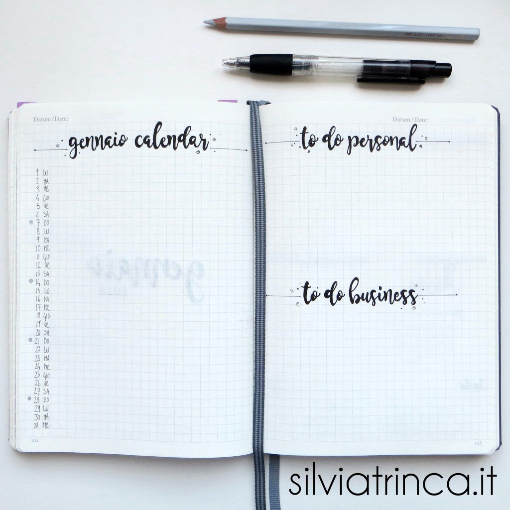 Gennaio 2018 calendario e to do list