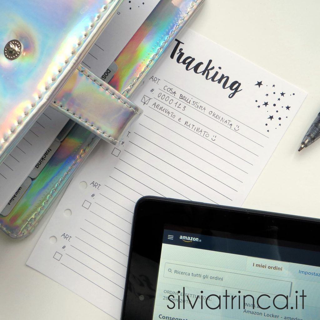 Post organizer e liste tracking e wishlist da stampare