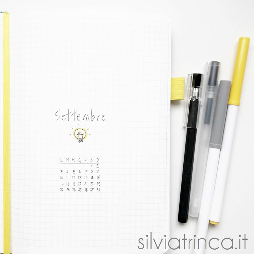 Bullet Journal set up di settembre 2018