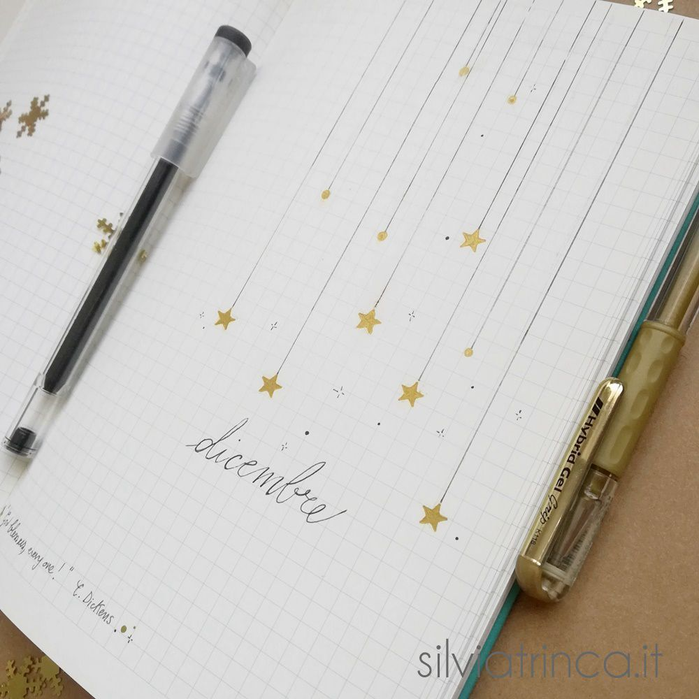 Bullet Journal set up di dicembre 2018