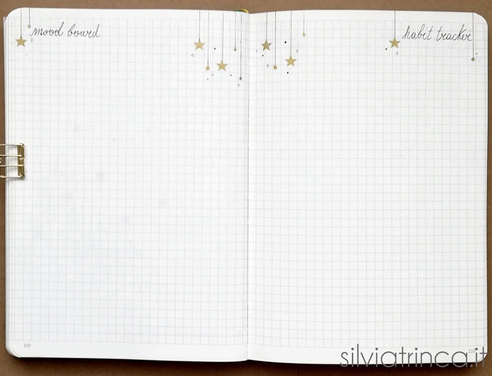 Bullet Journal - mood board e habit tracker dicembre 2018